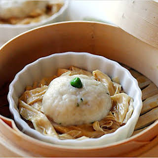 Fish Ball Recipe (Steamed Fish Balls with Bean Curd Sticks).