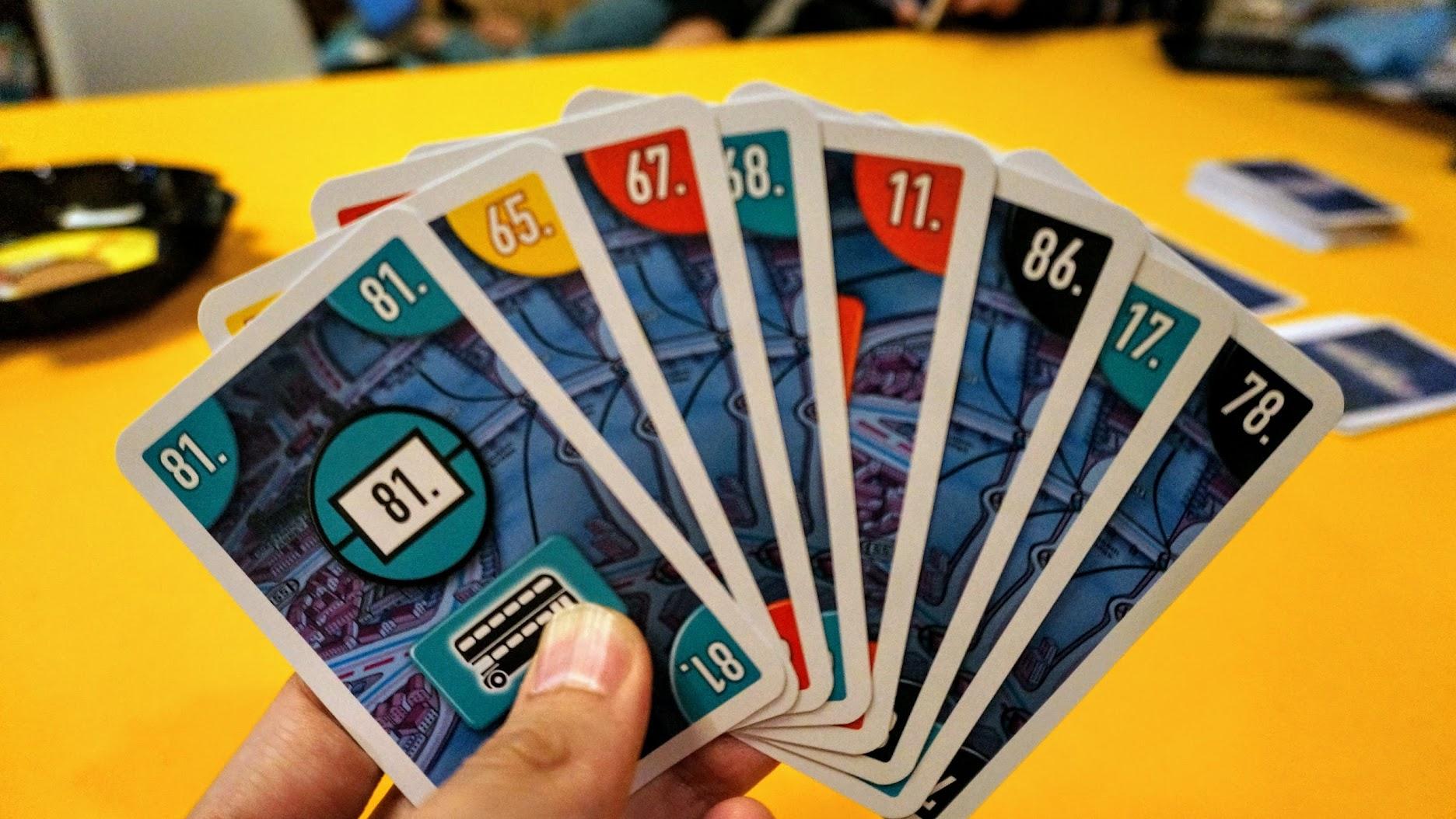 スコットランドヤード:カードゲーム:初期手札