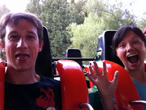 Photo: Strapped in for a scary ride!