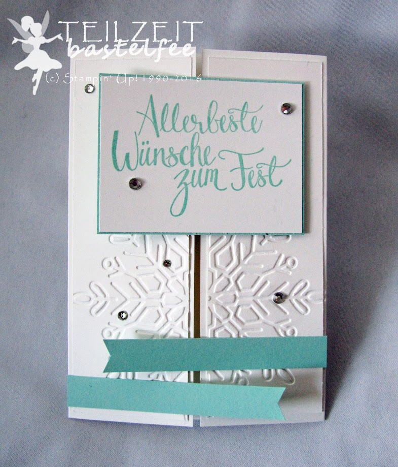 Stampin' Up! – In{k}spire_me, Sketch Challenge, Malerische Weihnachten, Watercolor Christmas, Prägeform Schneekristall, Winter Wonder Embossing Folder, Banner