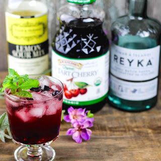 Mint, Blueberry & Cherry Vodka Sour.