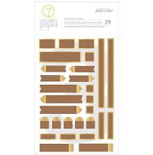 Seven Papers Kraft Stickers 4X6 29/Pkg - Amelia Gold Foiled Labels UTGÅENDE