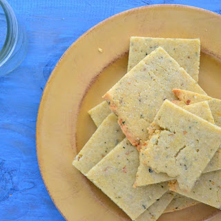 Rosemary Almond Flour Crackers