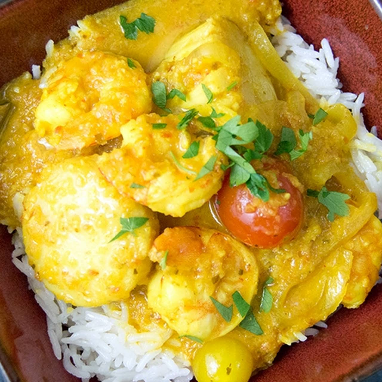 Malay Kari Udang | Coconut Prawn Curry