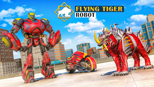 Flying Tiger Robot: Flying Bike Transformation 1.4 screenshots 5