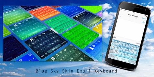 Blue Sky Skin Emoji Keyboard