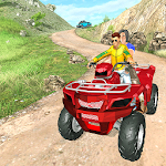 ATV Quad Bike Offroad Crazy Taxi Driver Sim 3D Icon