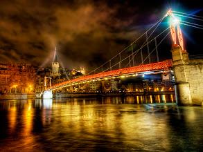 Photo: Crossing the bridge close to midnight...