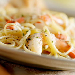 Creamy Fettuccine with Lobster, Asparagus and Le Douanier.