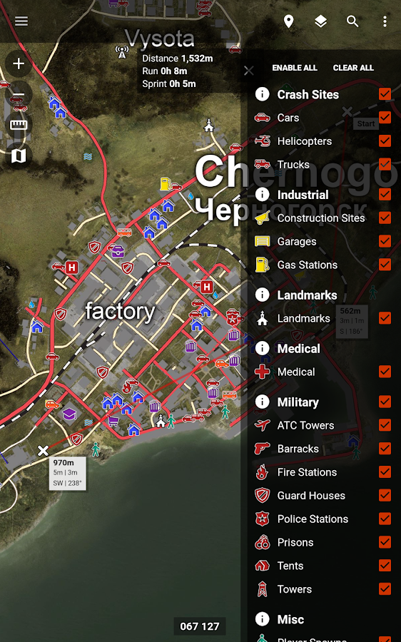 Central for DayZ - Map & Guide- screenshot