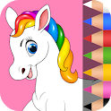 Unicorn Coloring Book for Kids 🦄 icon