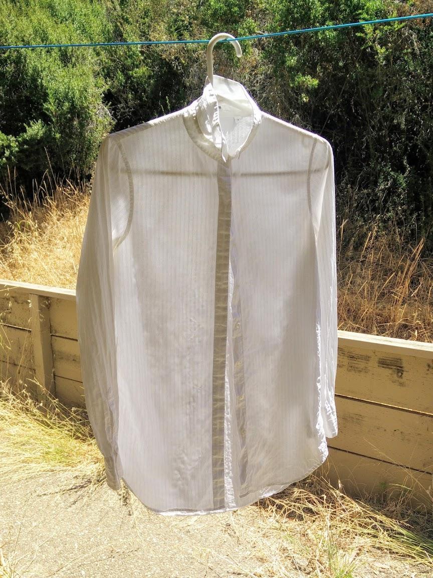 Material: Bind Resist Dye Shirt, Square Accordion Fold Style - DIY Fashion Garment | fafafoom.com