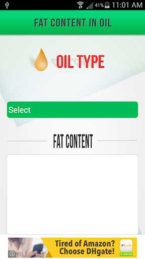 Fat Content in Oil