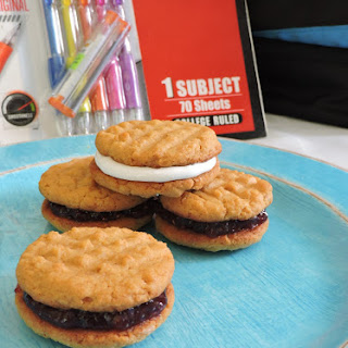 Peanut Butter & Jelly Cookies.