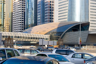 Photo: Dubai's modern metro stations