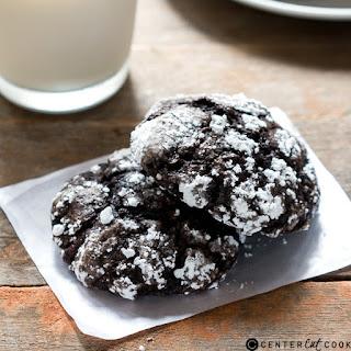 Cakey Chocolate Crinkle Cookies.