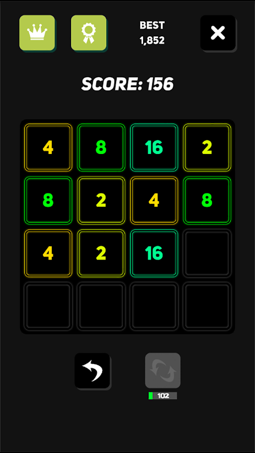 2048 Neon- screenshot