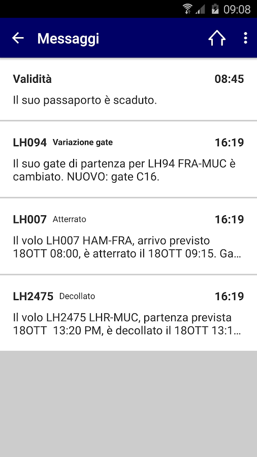 Lufthansa- screenshot