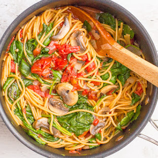 One-pot Vegetarian Spaghetti