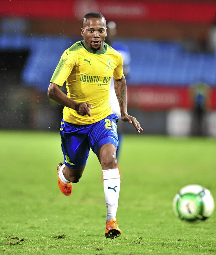 Aubrey Ngoma is one of the players who could get a run when Mamelodi Sundowns face Leones Vegetarianos in a CAF Champions League fixture tomorrow. /Samuel Shivambu / BackpagePix
