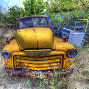 Yellow GMC by Kent Moody - Transportation Automobiles ( vintage, truck, automobile, gmc, piclup, yellow,  )