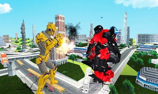 Futuristic Robot Transforming Gorilla Attack City 5