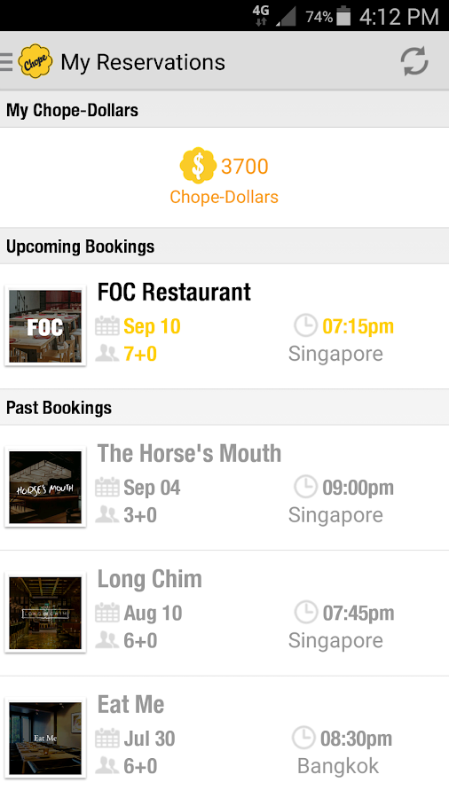 Chope Restaurant Reservations- screenshot