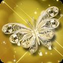 Theme Butterfly Gold Diamond icon