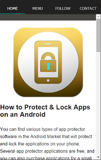 Phone Lock Your App Tip