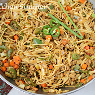 Asian Curried Noodle Stir Fry.