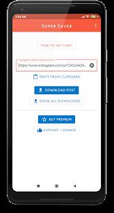 Super Saver - Download & Repost Photos & Videos  apk screenshot 1