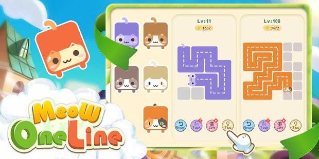 Meow- One line MOD apk