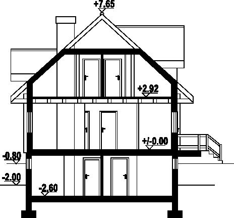 Milicz 19 - Przekrój