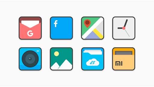PC u7528 Flat Squircle - Icon Pack 1