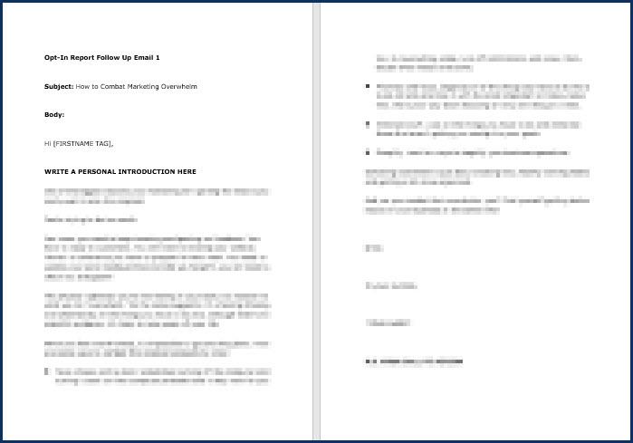 Rapid Results Marketing Formula - OptIn Email 1