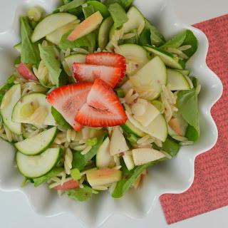 Watercress, Apple and Zucchini Orzo Salad
