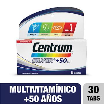 CENTRUM SILVER+50 AÑOS   TABLETA FRASCO X30TAB. PFIZER MULTIVITAMÍNICO