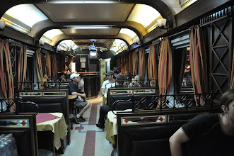 Photo: Restaurant wagon, with menu and staff exclusively in russian. Beer is Pivo :-)
