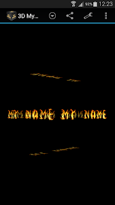 3D My Name Live Wallpaper screenshot 0