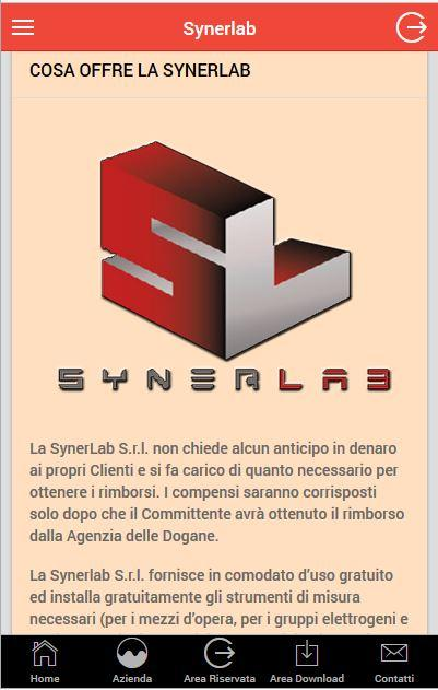 Synerlab- screenshot