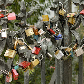 Locked by Raymond Fitzgerald - Artistic Objects Other Objects ( czech republic, color, city, charles bridge, prague )