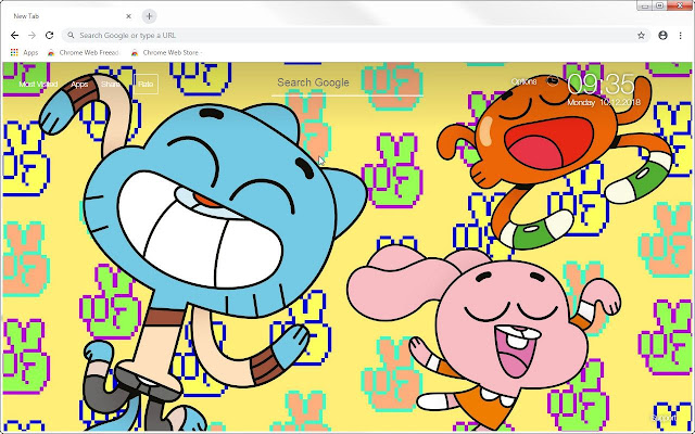 The Amazing World Of Gumball HD New Tab