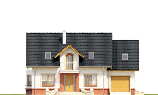 Dom Dla Ciebie 1 w4 z garażem 1-st. A - Elewacja przednia