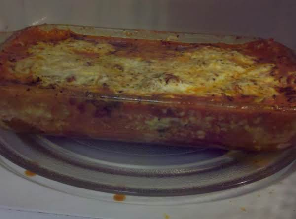 Microwave Lasagna By Susan Recipe