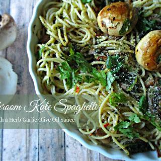 Mushroom & Kale Spaghetti
