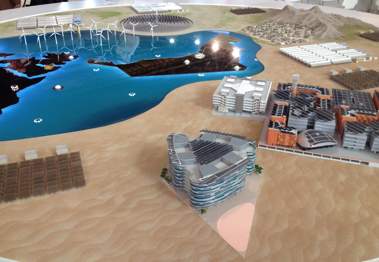 Plan of Masdar City, Abu Dhabi Sustainability Week 2014, Abu Dhabi, UAE