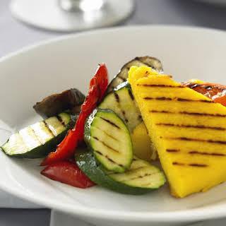 Grilled Polenta and Vegetables.