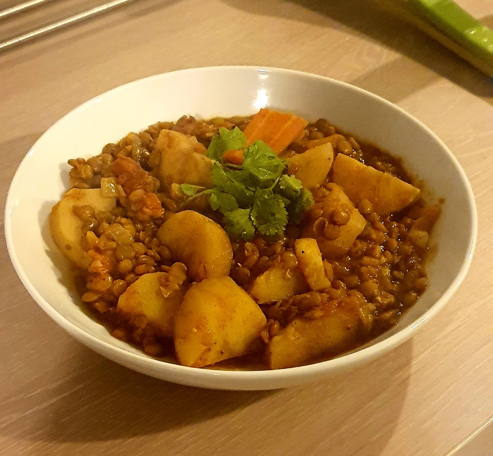 spiced lentils moroccan aades in a bowl