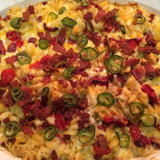 Jalapeno Chicken and Bacon Pasta Casserole