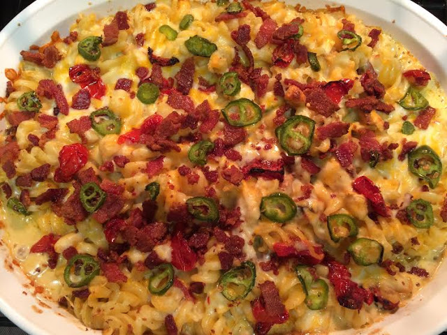 Jalapeno Chicken and Bacon Pasta Casserole Recipe